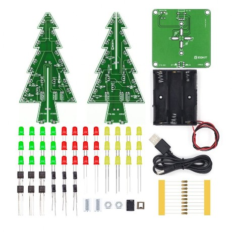 Electronic Christmas Tree - Parts