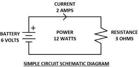 Circuit used for Voltage Current Resistance and Power Calculations