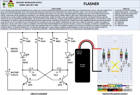 Electronic Workshop Notes - Flasher Circuit