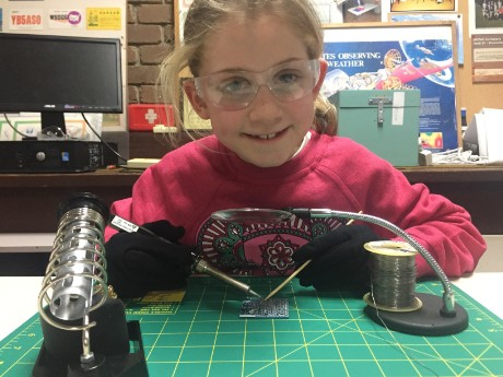 Abigale soldering (5 y.o.) SMT components